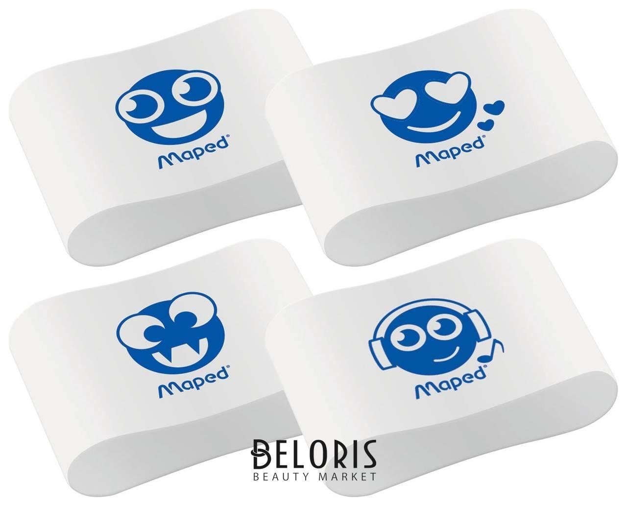 Ластик Maped Essentials Soft 13, 33,5х21,5х9,9 мм, белый, ассорти, эргономичный, синтетический каучук Maped