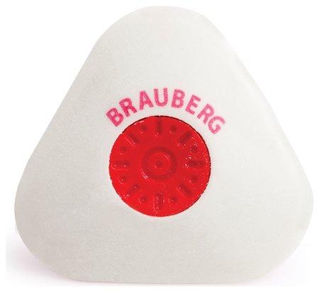 Ластик Brauberg Energy, 45х45х10 мм, белый, треугольный, термопластичная резина, пластиковый держатель Brauberg