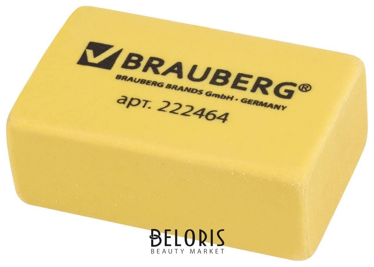 Ластик Brauberg Der Grosse, 40х25х15 мм, бежевый, супермягкий, прямоугольный, термопластичная резина Brauberg