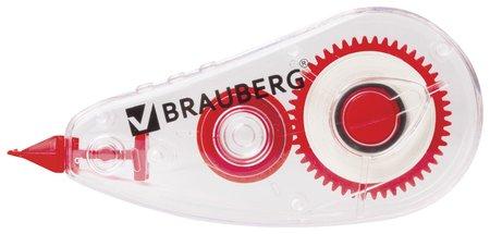 "Корректирующая лента Brauberg ""Red Power"", 5 мм х 6 м, в упаковке с европодвесом  Brauberg"