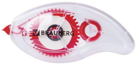 "Корректирующая лента Brauberg ""Red Power"", 5 мм х 8 м, в упаковке с европодвесом  Brauberg"