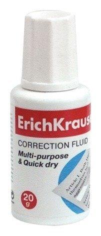 Корректирующая жидкость Erich Krause, флакон с кисточкой  Erich krause