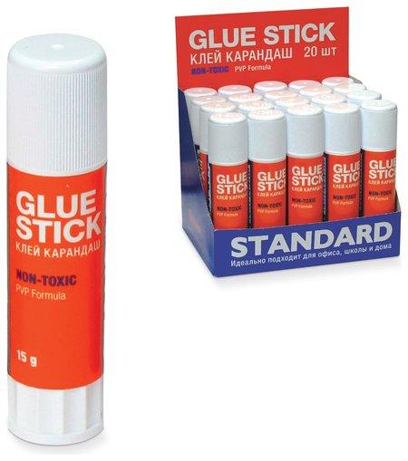 """Клей-карандаш """"Стандарт"""", PVP-основа, нетоксичный  Globus"""