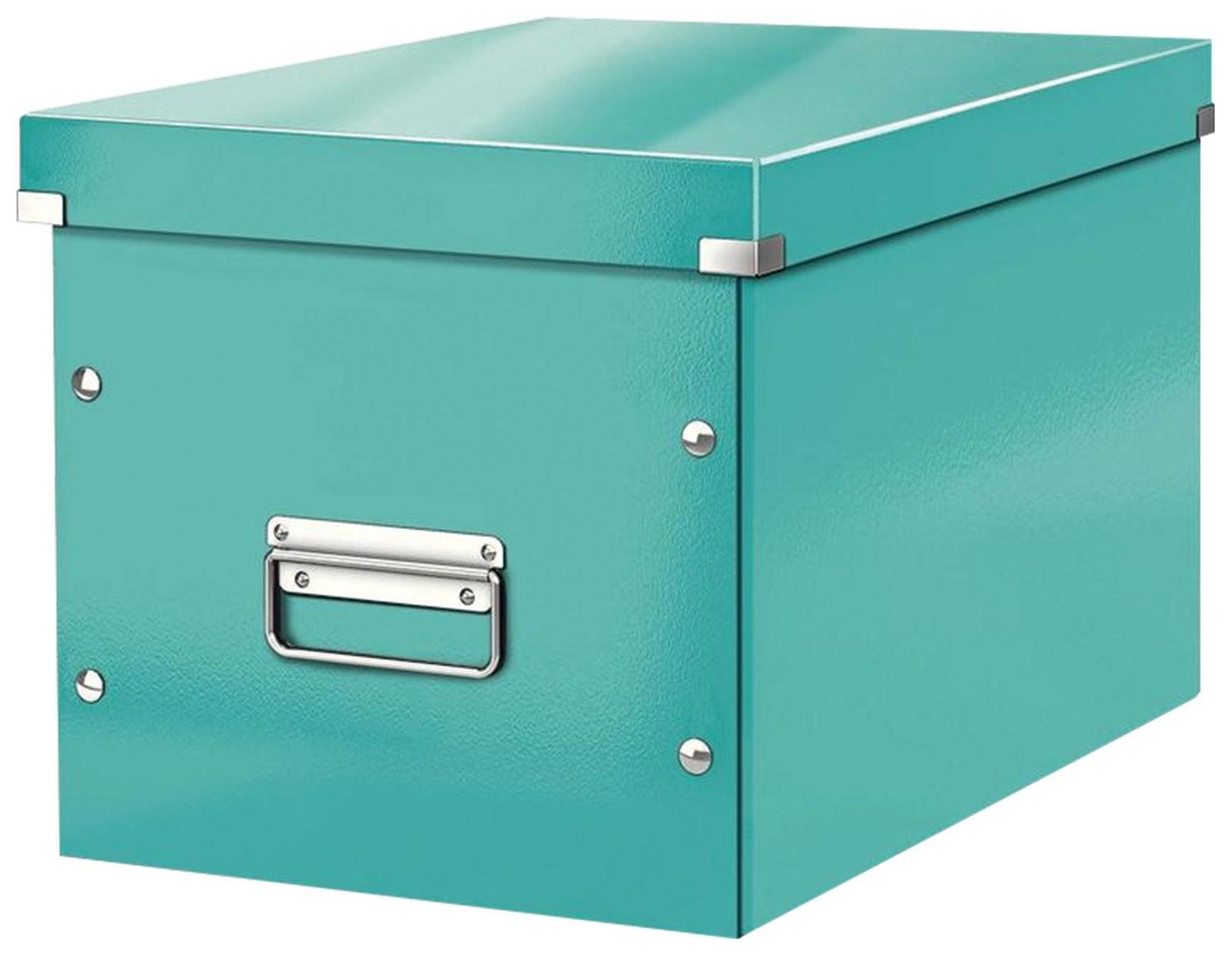 """Короб архивный Leitz """"Click & Store"""" L, 310х320х360 мм, ламинированный картон, разборный, бирюзовый  Leitz"""