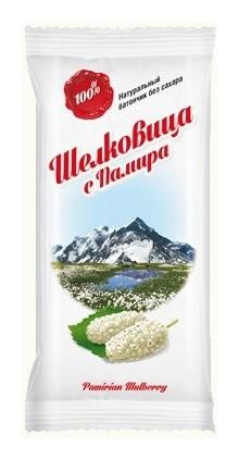 """Батончик фруктовый """"Шелковица с Памира"""" без сахара  Дары Памира"""