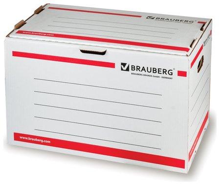 Короб архивный (306х525х338 мм), гофрокартон, белый, Brauberg  Brauberg