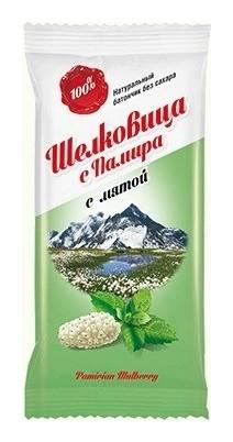 """Батончик с мятой фруктовый """"Шелковица с Памира"""" без сахара  Дары Памира"""