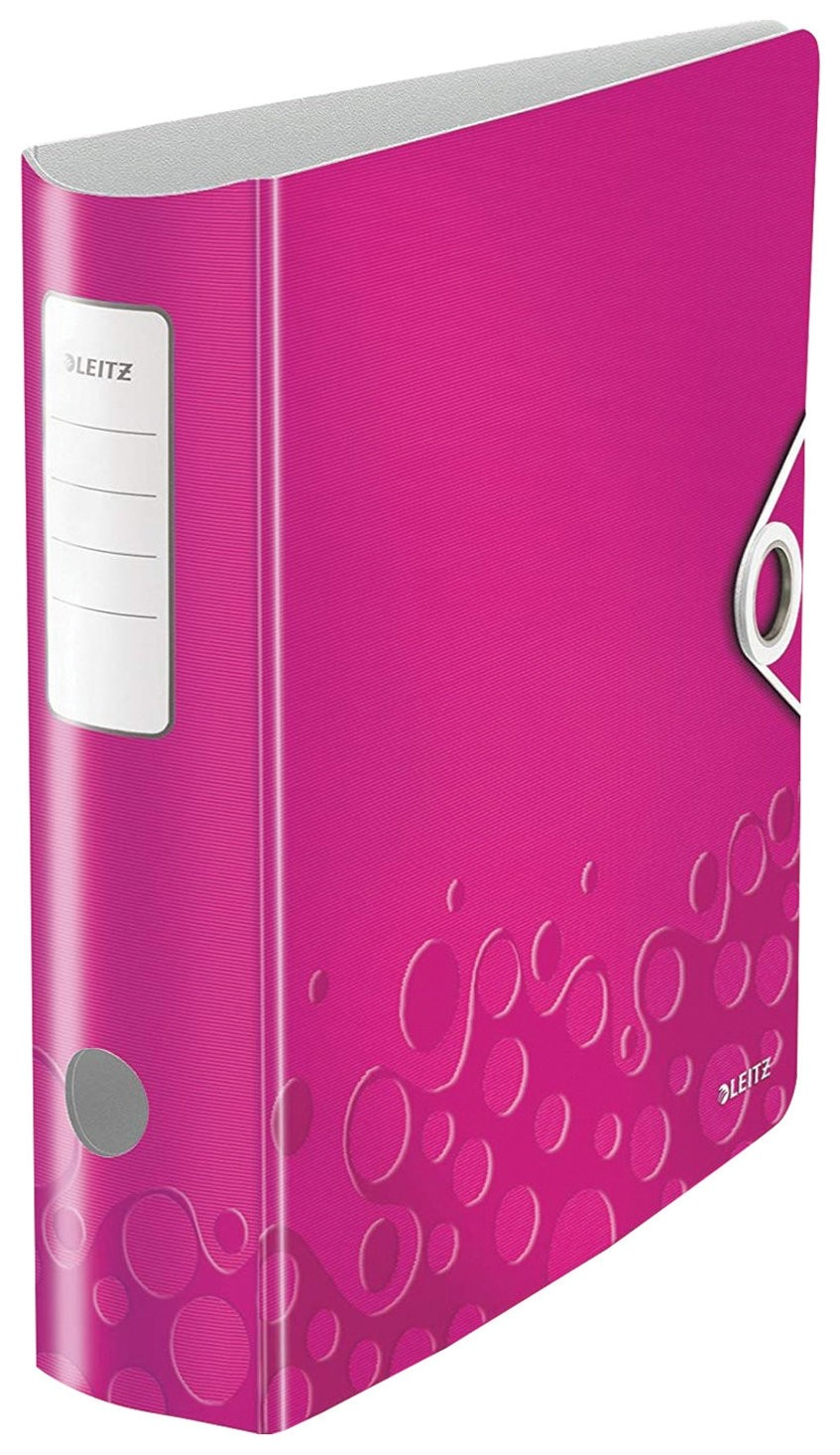 """Папка-регистратор Leitz """"Active Wow"""", механизм 180°, полифом, 82 мм, розовая  Leitz"""