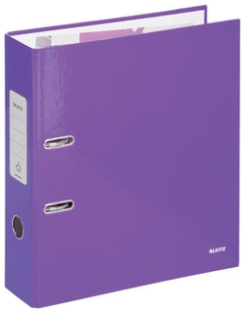 Папка-регистратор Leitz, механизм 180°, покрытие пластик, 80 мм, фиолетовая  Leitz