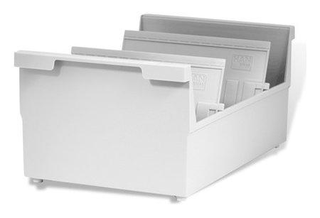 Картотека пластиковая формат А5 (210х148 мм) горизонтальная на 1000 карт, серая, Han  Han