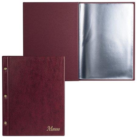 """Папка """"Меню""""на трех винтах, с 10 файлами, 220х320 мм, бордовая,""""ДПС""""  Dps Kanc"""