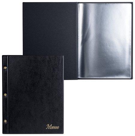 "Папка ""Меню""на трех винтах, с 10 файлами, 220х320 мм, черная,""ДПС""  Dps Kanc"