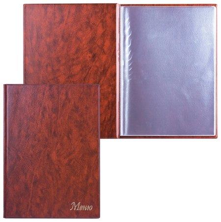 """Папка """"Меню""""с 10 файлами, 220х320 мм, коричневая,""""ДПС""""  Dps Kanc"""