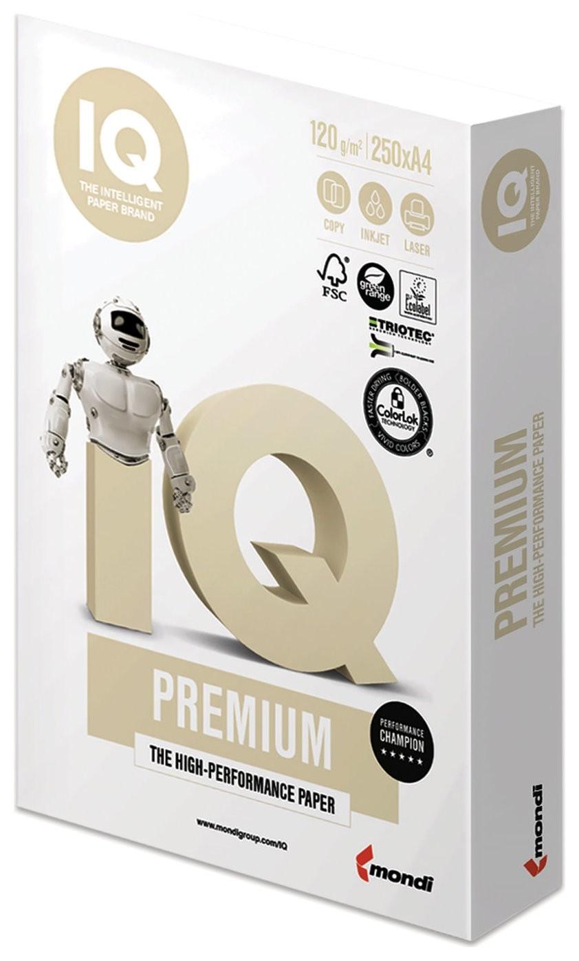 """Бумага IQ PREMIUM, А4, 120 г/м2, 250 листов, класс """"А"""", Австрия, белизна 170% (CIE)  Iq"""