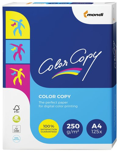 Бумага COLOR COPY, А4, 250 г/м2, 125 листов, для полноцветной лазерной печати, А++, Австрия, 161% (CIE)  Color copy