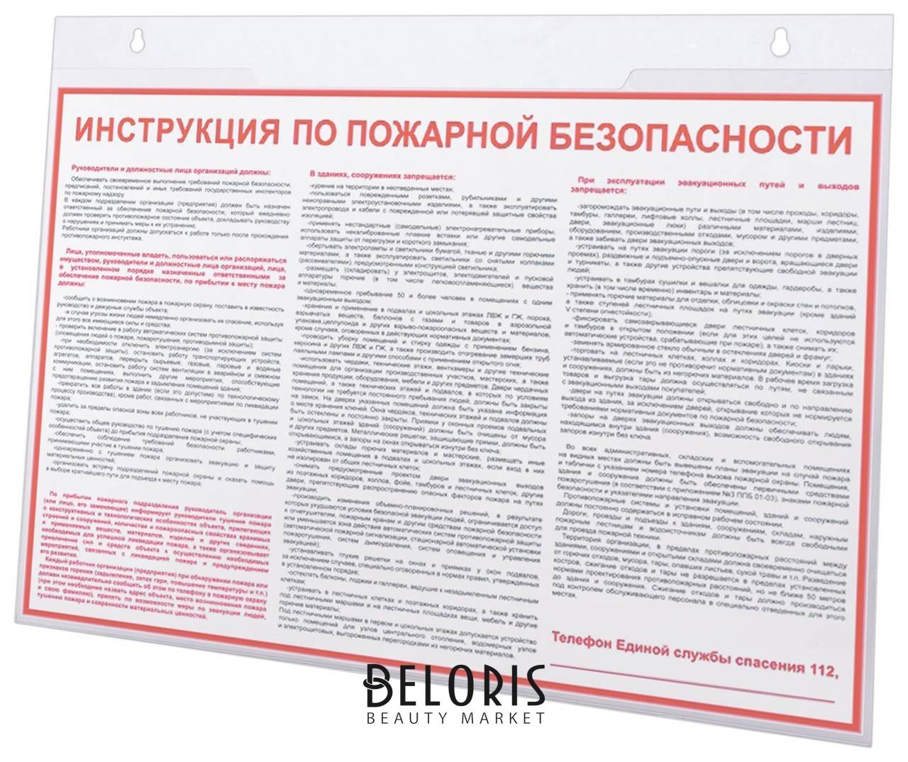 Подставка настенная для рекламных материалов большого формата (420х297 мм), А3, горизонтонтальная, Brauberg Brauberg