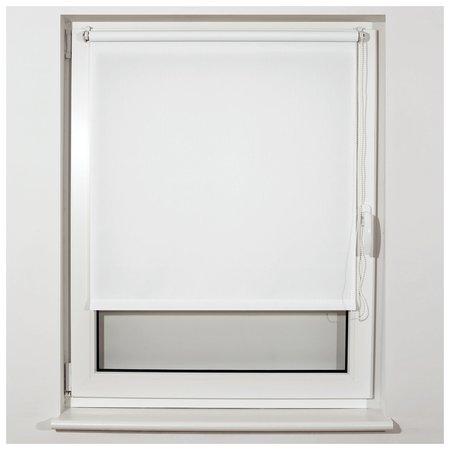 Штора рулонная BRABIX 60х175 см, текстура - лён, защита 55-85%, 200 г/м2, белый S-5  Brabix