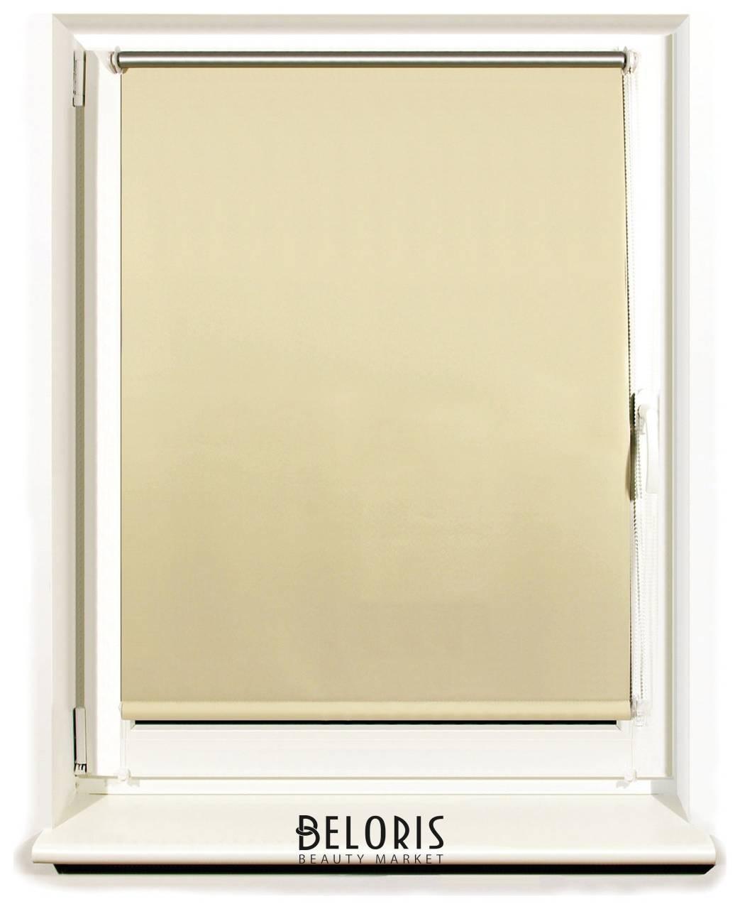 Штора рулонная светонепроницаемая (Блэкаут) Brabix 60х175 см, кремовый/серебро Brabix