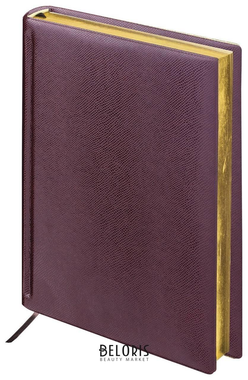 Ежедневник недатированный А5 (138х213 мм) BRAUBERG Iguana, под кожу рептилий, 160 л., золотой срез, темно-коричневый Brauberg