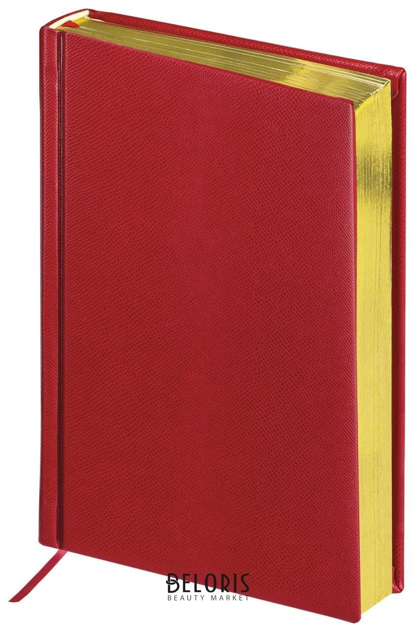 Ежедневник недатированный А5 (138х213 мм) BRAUBERG Iguana, под кожу рептилий, 160 л., золотой срез, бордовый Brauberg