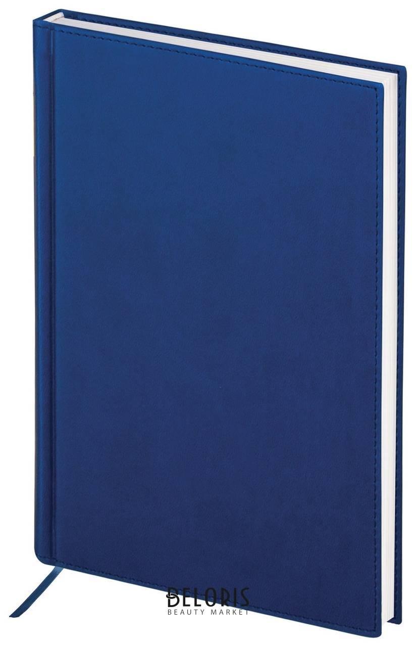 Ежедневник полудатированный А5 (138х213 мм) Brauberg New York, под гладкую кожу, 192 л., синий Brauberg