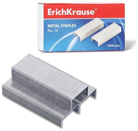 Скобы для степлера №10, 1000 штук, Erich Krause, до 20 листов  Erich krause