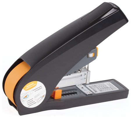 "Степлер энергосберегающий мощный №24/6-23/13 Brauberg ""Easy Press"", до 100 листов, без усилий  Brauberg"