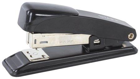 Степлер №24/6, 26/6 металлический до 20 листов, черный  Staff