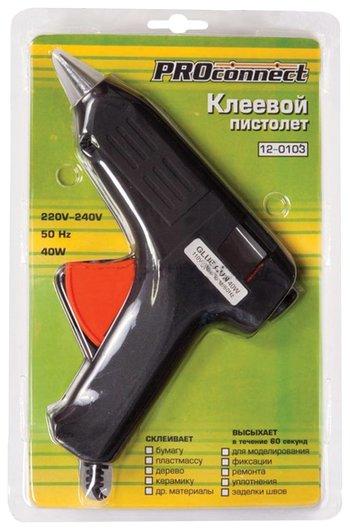 Клеевой пистолет Proconnect, 40 Вт, для стержня 11 мм, в блистере  Proconnect