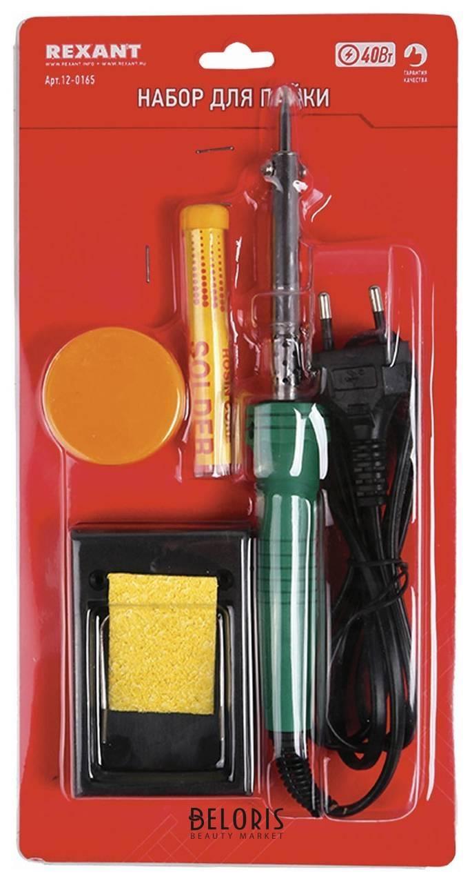 Набор для пайки №11 (паяльник 30 Вт, подставка, губка для удаления припоя, канифоль, припой), Rexant Rexant