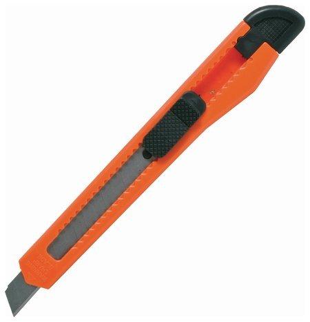 Нож канцелярский 9 мм Staff, фиксатор, цвет корпуса ассорти, упаковка с европодвесом Staff