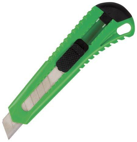 Нож канцелярский 18 мм Brauberg Classic, фиксатор, корпус ассорти, упаковка с европодвесом Brauberg