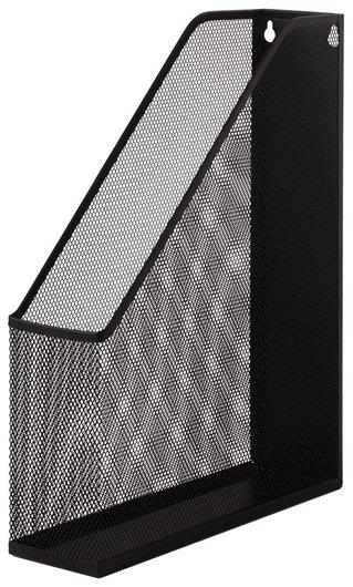"Лоток вертикальный для бумаг Brauberg ""Germanium"" (250х72х315 мм), металлический, черный  Brauberg"