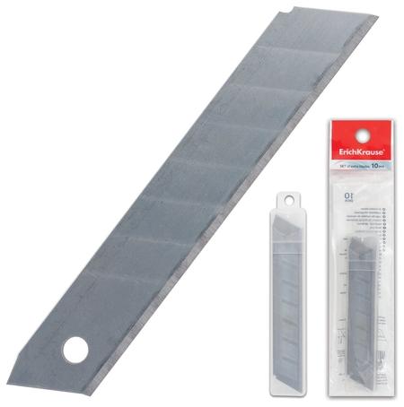 Лезвия для ножей 18 мм комплект 10 шт., толщина лезвия 0,5 мм, в пластиковом пенале, Erich Krause  Erich krause
