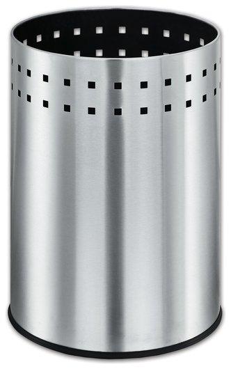 """Корзина металлическая для мусора Лайма """"Bionic"""", 12 л, матовая, перфорированная, несгораемая  Лайма"""