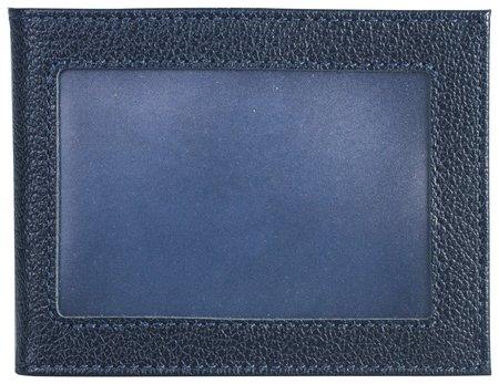 """Обложка для удостоверения Befler """"Грейд"""", натуральная кожа, с окном, синий   Befler"""