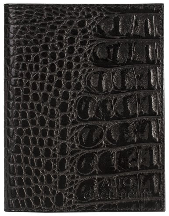 """Бумажник водителя Befler """"Кайман"""", натуральная кожа, тиснение, 6 пластиковых карманов, черный   Befler"""