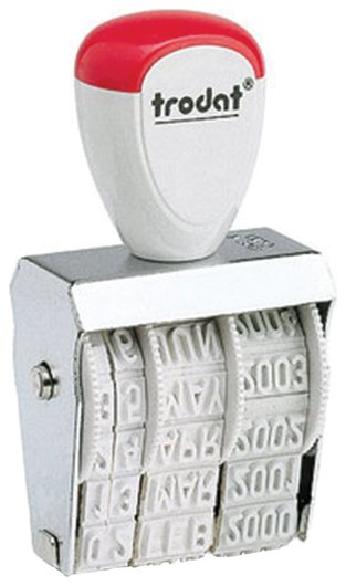 Датер ручной ленточный, оттиск 25х4 мм, месяц буквами, Trodat 1010  Trodat