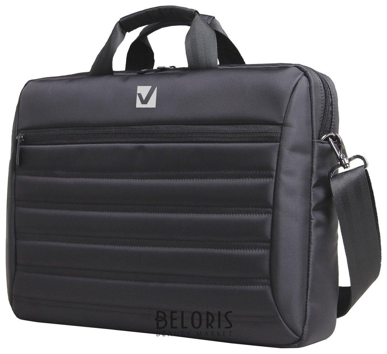 Сумка деловая Brauberg Patrol, 29х41х6 см, отделение для планшета и ноутбука 15,6, ткань, черная Brauberg
