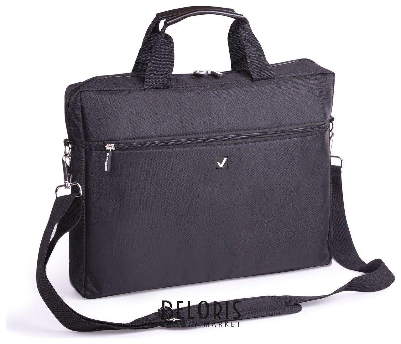 Сумка деловая Brauberg Tempo, 30х40х4 см, отделение для планшета и ноутбука 15,6, ткань, черная Brauberg