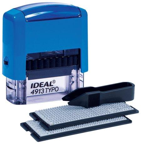 Штамп самонаборный 5-строчный, размер оттиска 58х22 мм, синий без рамки, Trodat Ideal 4913 P2, кассы  Trodat