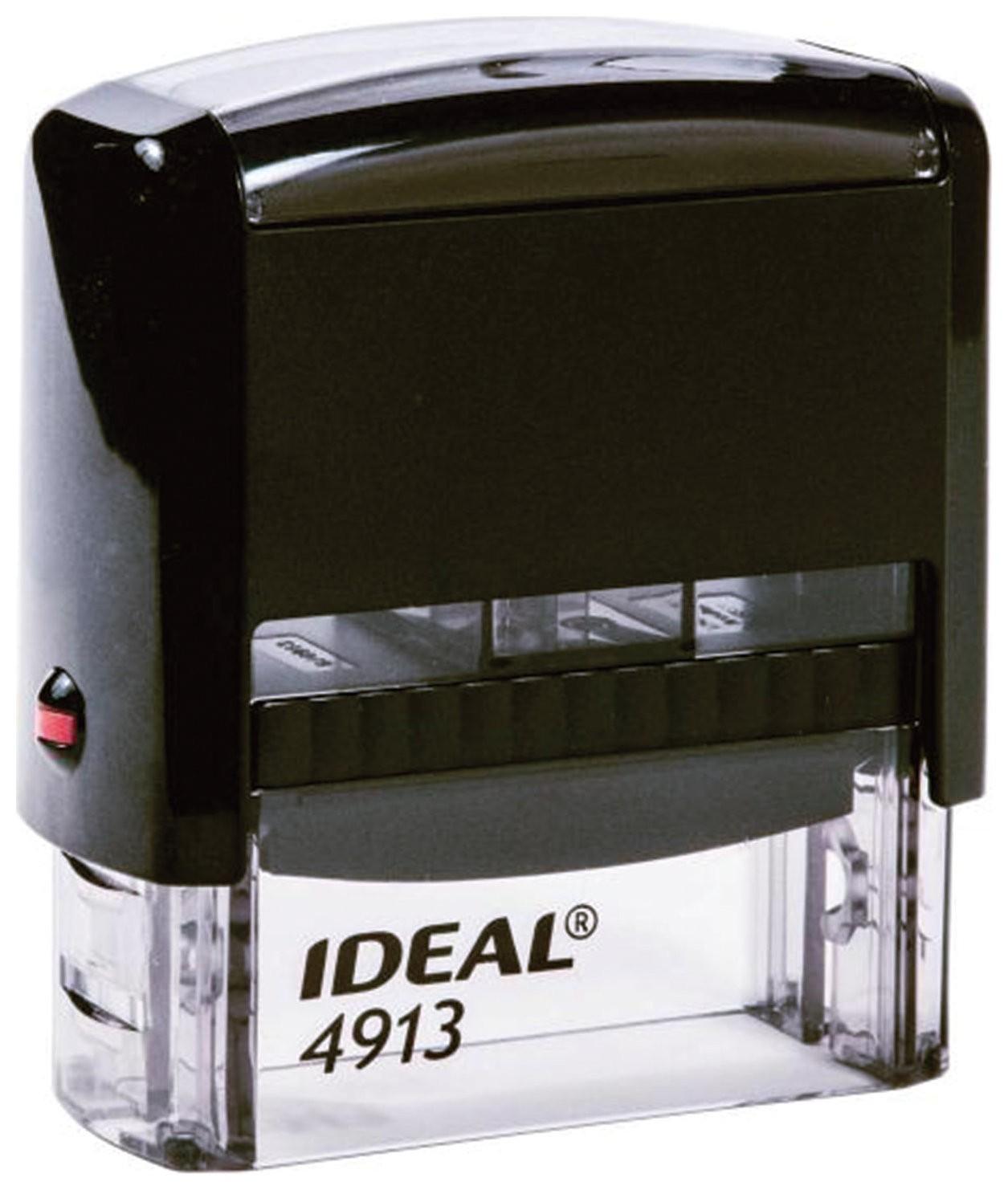 Оснастка для штампа, размер оттиска 58х22 мм, синий, Trodat Ideal 4913 P2, подушка в комплекте  Trodat