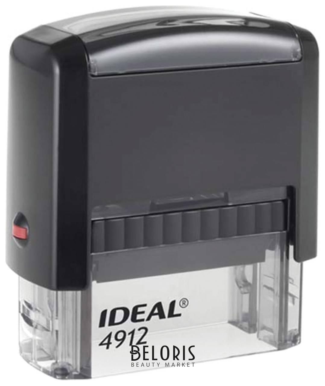 Оснастка для штампа, размер оттиска 47х18 мм, синий, Trodat Ideal 4912 P2, подушка в комплекте Trodat