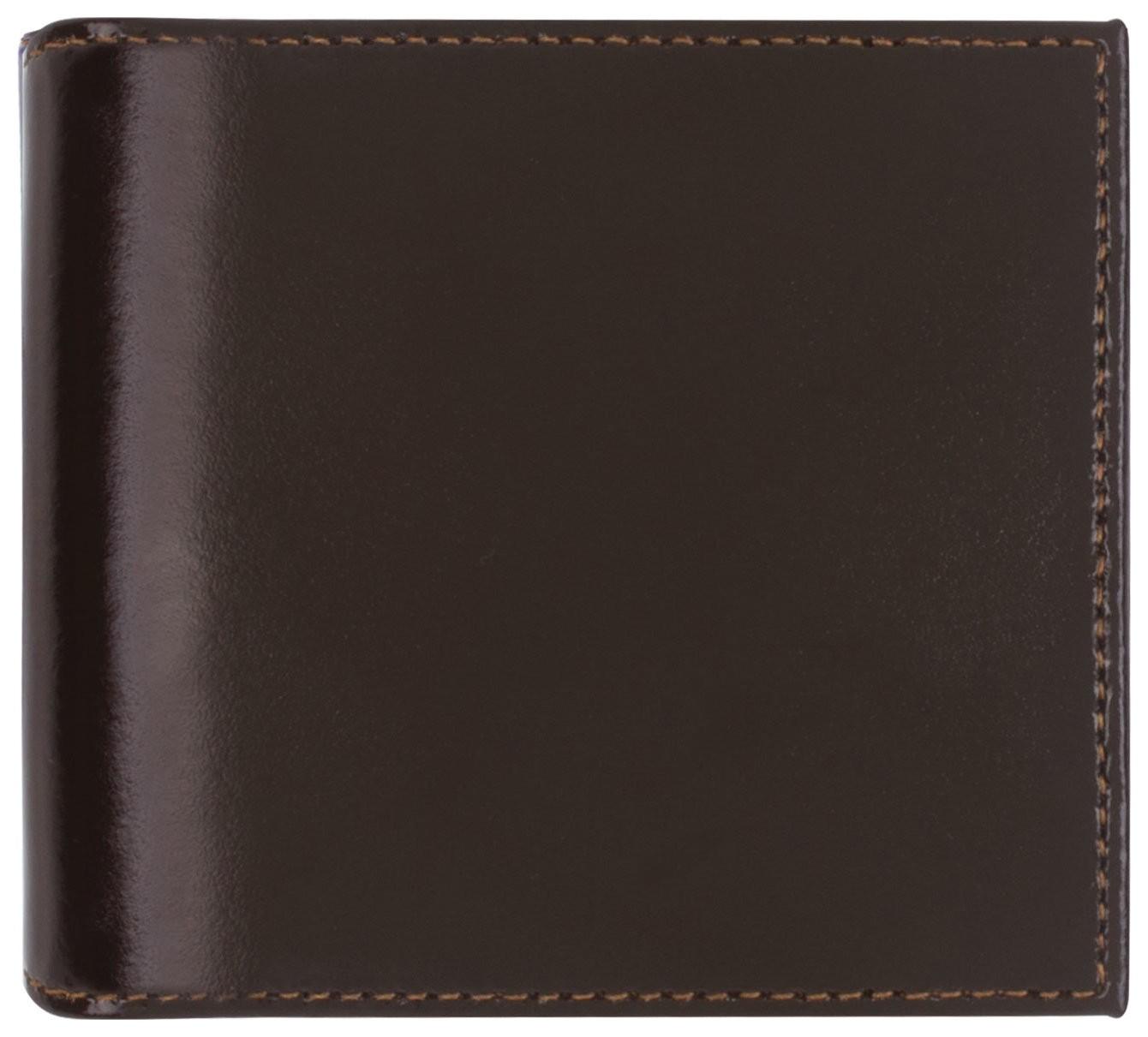 """Портмоне мужское Befler """"Classic"""", 100х90 мм, натуральная кожа, на кнопке, коричневое  Befler"""