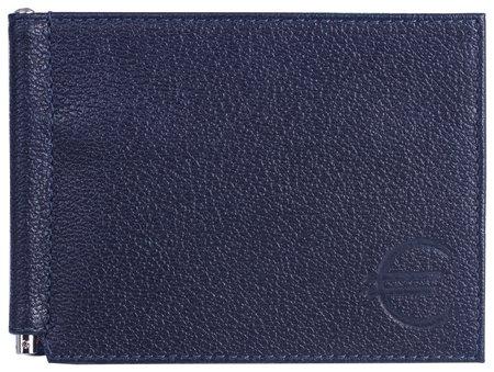 "Зажим для купюр Befler ""Грейд"", натуральная кожа, тиснение, 120х86 мм, синий  Befler"