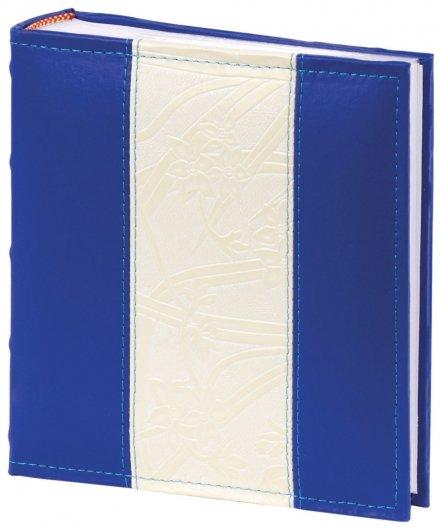 Фотоальбом Brauberg на 200 фото 10х15 см, под кожу, бумажные страницы, бокс, синий с белым  Brauberg