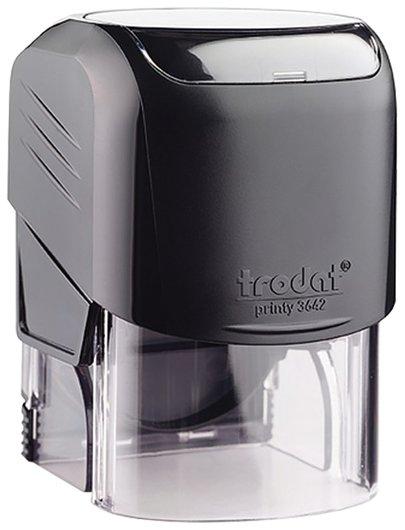 Оснастка для печати компактная, оттиск D=42 мм, синий, Trodat 3642 Printy, крышка, подушка  Trodat