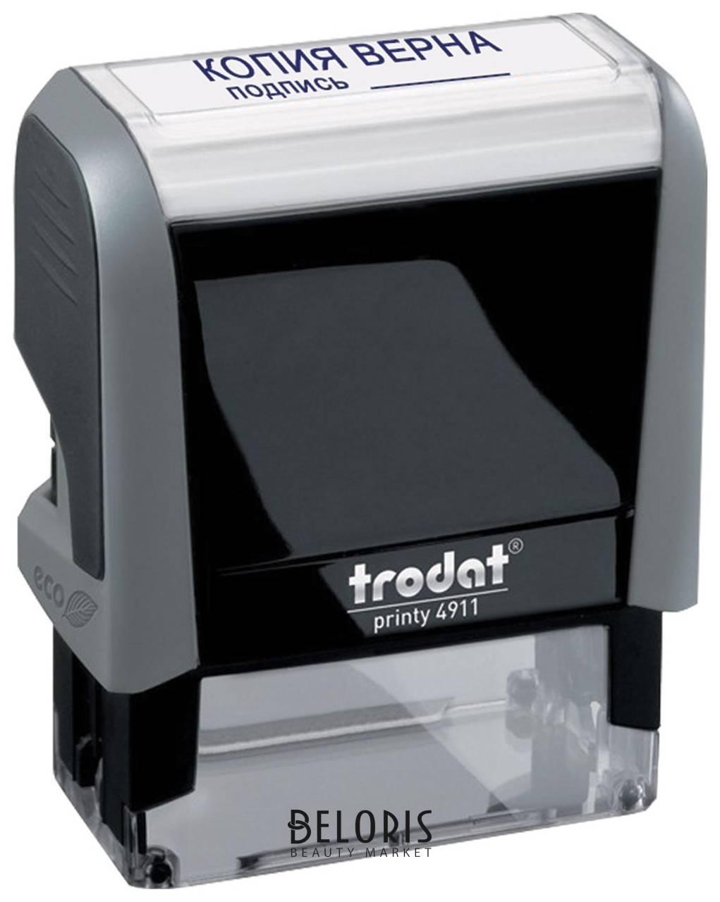 Штамп стандартный Копия верна, подпись, оттиск 38х14 мм, синий, Trodat 4911P4-3.42 Trodat