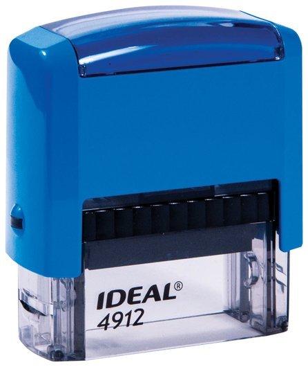 Штамп самонаборный 4-строчный, размер оттиска 47х18 мм, синий без рамки, Trodat Ideal 4912 P2, кассы  Trodat