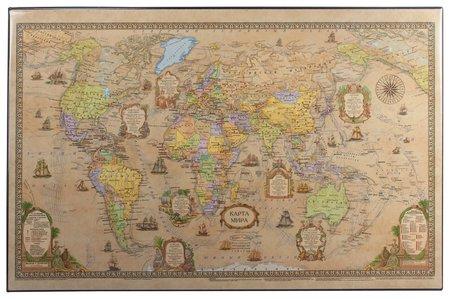 Коврик-подкладка настольный для письма (590х380 мм), с картой мира ретро, ДПС  Dps Kanc